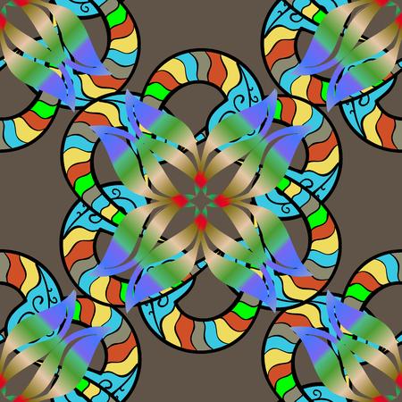 벡터 멘디 패턴, 갈색, 파란색 색상에 원활한 테두리의 집합입니다. 전통적인 인도 스타일, 헤 너 문신, 스티커, 플래시 임시 문신, 멘디, 요가 디자인에 대 한 장식용 꽃 요소. 스톡 콘텐츠 - 91776633