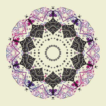 Vector illustration. Christmas snowflake of decoration on snow. Christmas festive background. Иллюстрация