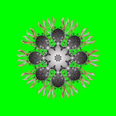Template for cover, poster, t-shirt or tattoo. Winter coloring pages for adult art therapy. Hand drawn antistress snowflake. Vector illustration.