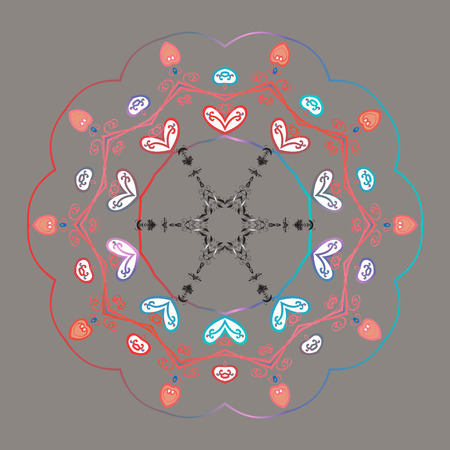 New year snowflake. Nice abstract snowflakes vector design.  イラスト・ベクター素材