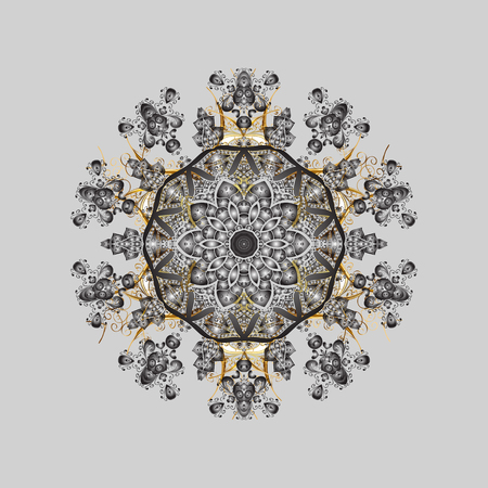 Abstract snowflake pattern design.