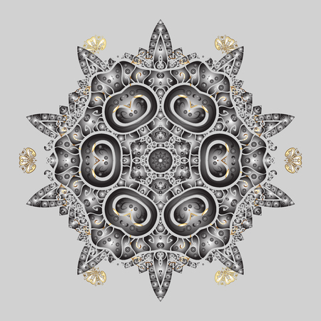winter snowflake for Christmas, New Year. Freehand artistic ethnic illustration for adult coloring pages, art therapy, bohemian tattoo, t-shirt patterned print, posters, Vector sketch.