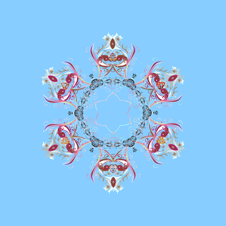 Snowflakes pattern template design.