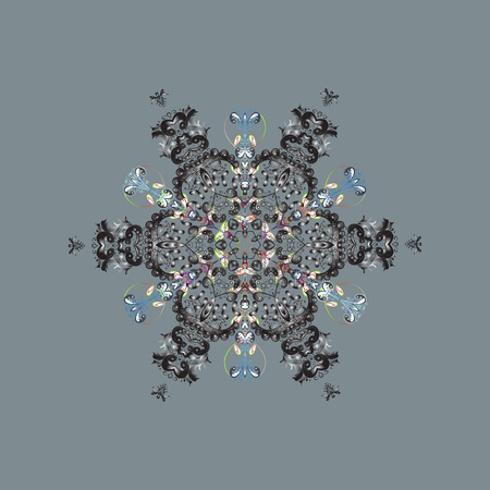 Snowflake Vector illustration. Isolated on neutral, gray and blue colors. Snowflake Icon. Winter snowflake.
