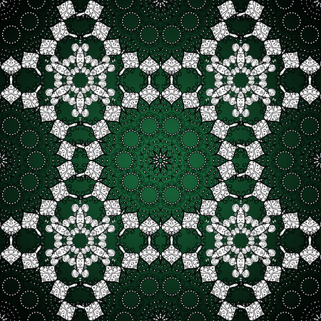 Seamless monochrome summer pattern with stylized flowers. Ornate  seamless texture, pattern with abstract floral mandalas. Can be used for sketch, pattern fills, web page background.