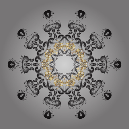 Vector illustration. Christmas Stylized gray, white and beige Snowflakes on a gray, white and beige colors.