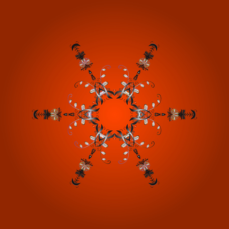 Isolated cute snowflakes Vector illustration Illustration