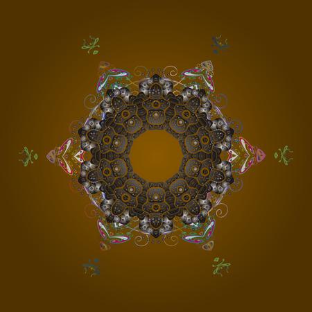 Round snowflake illustration.