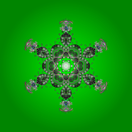 Snowflake simple symbol of winter. Illustration