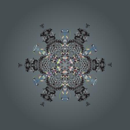 Fine winter ornament.  イラスト・ベクター素材