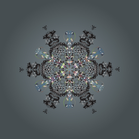 Fine winter ornament. Illustration