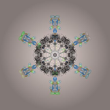 Simple illustration of nice snowflake icon for web. Illustration