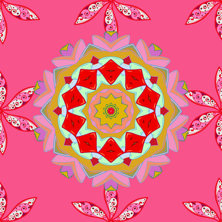 Nice Floral pattern in the small flower. Seamless floral pattern with flowers, watercolor. Raster pattern.