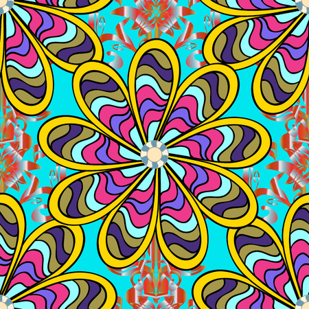Cute Floral pattern in the small flower. Seamless Tony fabric pattern. Fashionable fabric pattern. Raster illustration.
