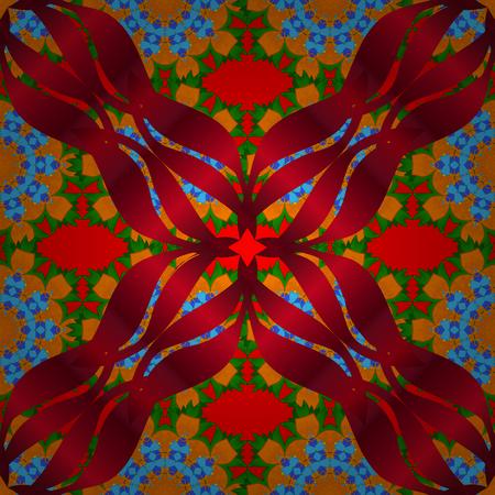 Floral Pattern in Raster vector illustration