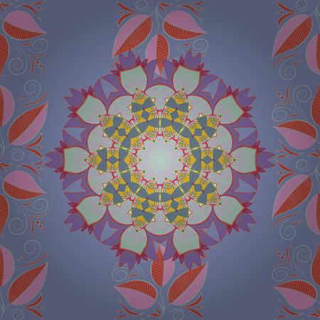 Seamless flower pattern can be used for wallpaper, website background. Ilustração