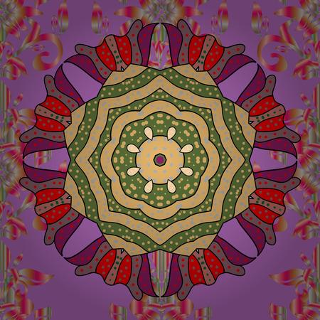 Flores del valle en colores violetas, beige y rosa. Patrón floral sin fisuras de la trama. Foto de archivo - 92814320