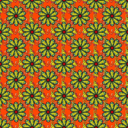 Raster ornaments, background. Seamless pattern with abstract ornament. Seamless pattern with mandalas.
