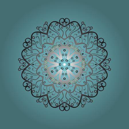 Cute abstract snowflake raster design. Illustration