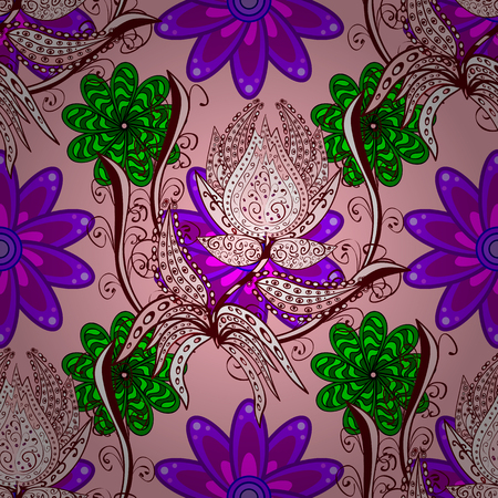 Hand painted raster mandala, colored on neutral, red and purple colors, indian peacock, indian pattern, colored mandala, mandala peacock. Illustration
