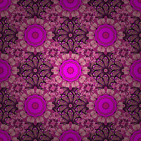 A Vector illustration Seamless. Cute Floral pattern in the small flower. Çizim