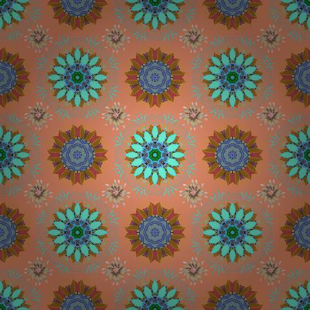 Flower seamless background. Floral pattern. Vector illustration. Flourish ornamental spring garden texture.