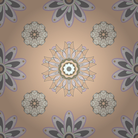 Small colorful flowers. Motley illustration. Vector cute pattern in small flower. Spring floral background with beige, neutral and gray flowers. The elegant the template for fashion prints.