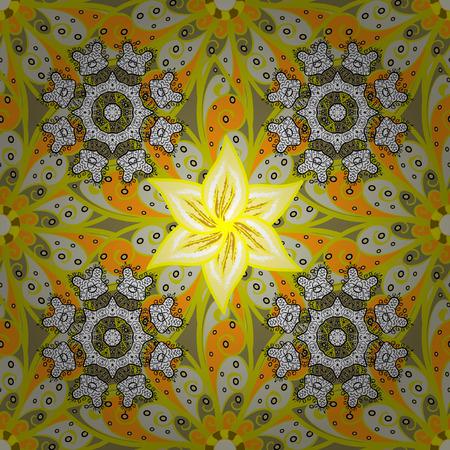 Seamless yellow flower pattern