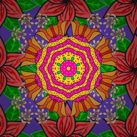 Soft cotton design  Vector flourish texture. Vintage flowery pattern. Seamless floral background. Ilustração