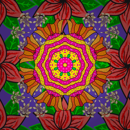 Soft cotton design  Vector flourish texture. Vintage flowery pattern. Seamless floral background. Illustration