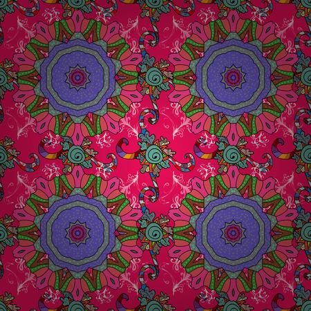Flat Flower Elements Design Vector illustration.  Flowers on magenta, pink and black colors.