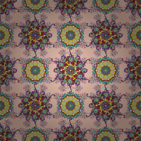 Seamless flower pattern can be used for sketch, website background, wrapping paper, invitation, flyer, banner or website. Hand-drawn Vector illustration.