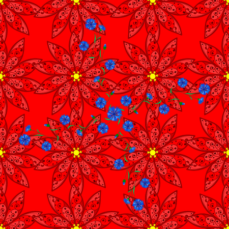 Beautiful fabric pattern. Cute floral background.