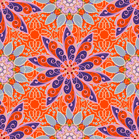Cute floral seamless background. 일러스트