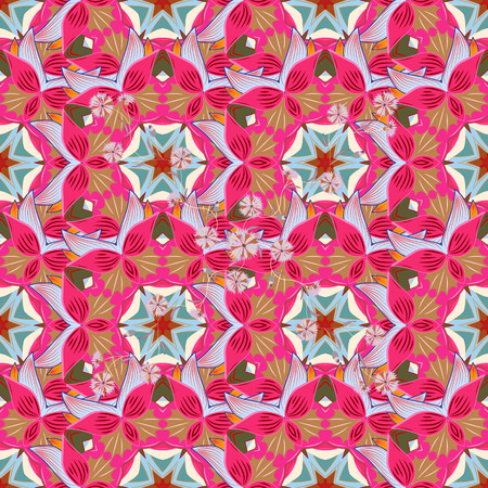 Islam, Arabic, Indian, turkish, pakistan, chinese, ottoman motifs. Vintage vector decorative elements. Colored Mandalas on pink, beige and neutral colors. Oriental pattern.