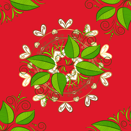 Sketch Pattern of colorful leaves design Stock fotó - 96821313