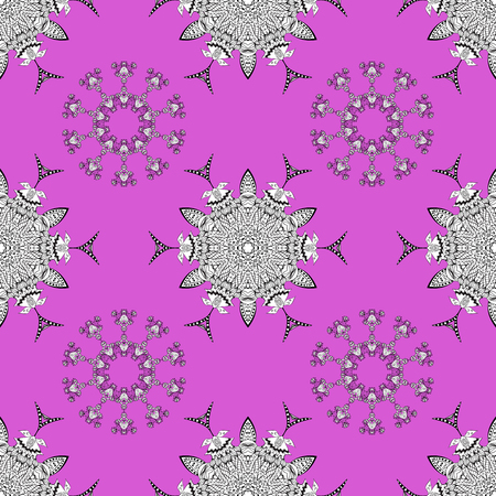 Luxury, royal and Victorian concept. Colorful pattern on violet, white and gray colors with colorful elements. Vector vintage baroque floral seamless pattern in color. Ornate decoration. Illustration