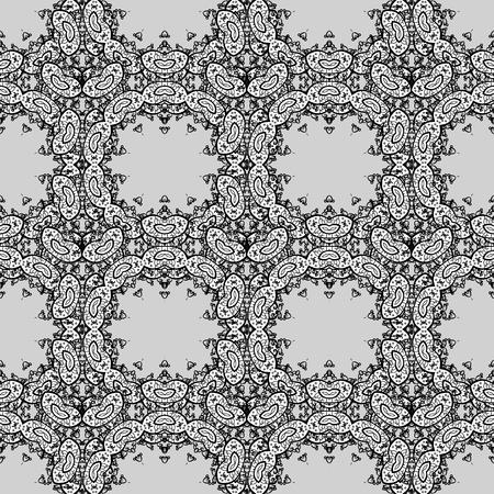 Vector illustration. Oriental colored pattern on gray, white and black colors. Abstract Mandala. Vintage decorative elements. Islam, Arabic, Indian, turkish, pakistan, chinese, ottoman motifs.