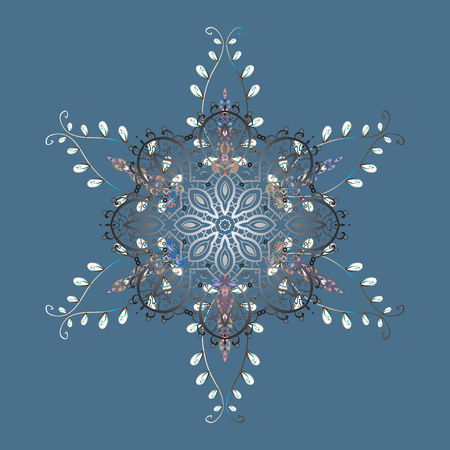 Trendy stylized snowflakes and elements memphis cards. Snowflakes design. Modern abstract design poster, cover, card design in blue, gray and white colors. Retro style texture, winter elements.  イラスト・ベクター素材