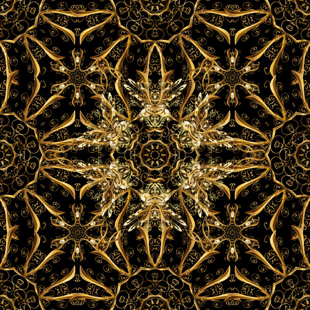 Golden pattern on black colors with golden elements.