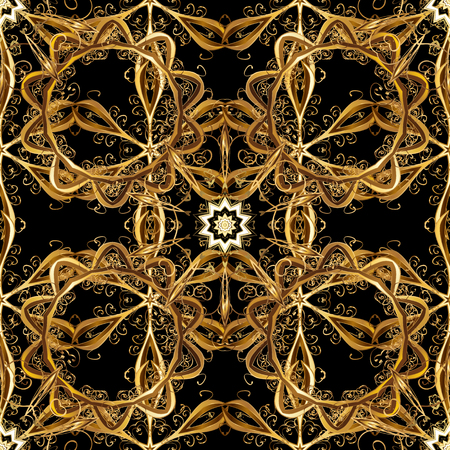 Pattern of black colors with golden elements.