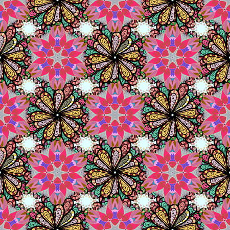 Beautiful fabric pattern. Vector watercolour floral pattern, delicate flowers, pink, black and neutral flowers, greeting card template.