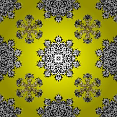 Seamless damask baroque pattern background