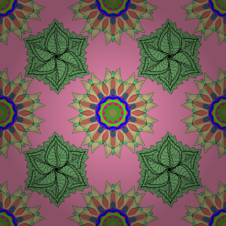 Vector islamic template for restaurant menu, flyer, greeting card, brochure, book cover and any other decorations. Decorated card with mandala in colored colors on pink, green and neutral colors.