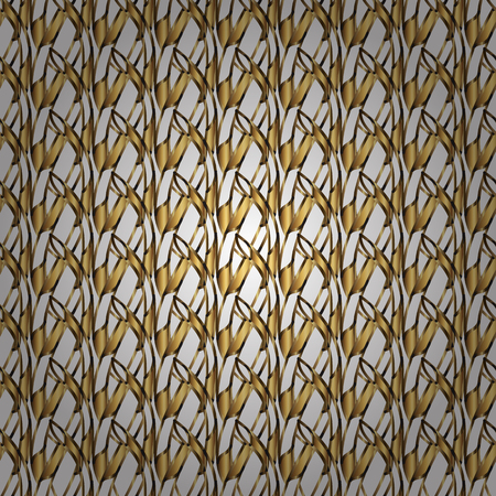 Classic vector golden seamless pattern. Floral ornament brocade textile pattern, glass, metal with floral pattern on white and yellow colors with golden elements.