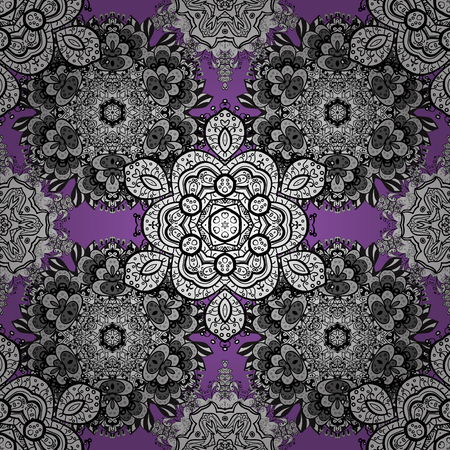 Damask seamless pattern repeating background. Color Wallpaper on texture background. Colorful element on white, black and gray colors. Color white, black and gray floral ornament in baroque style.