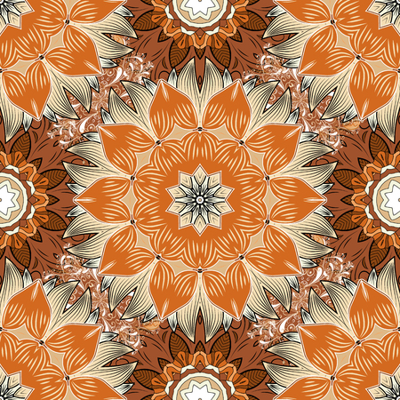 Vector floral wedding decorative elements seamless pattern mehndi vector vector floral wedding decorative elements seamless pattern mehndi floral lace decoration items on orange beige and brown colors junglespirit Choice Image