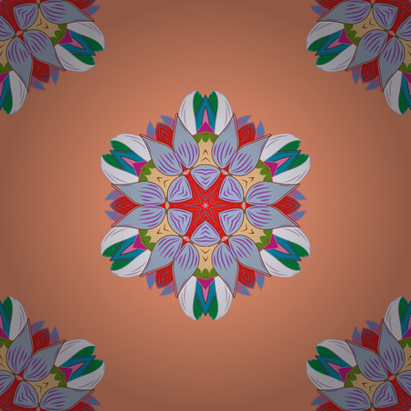 Seamless pattern with Mandalas. Seamless pattern with abstract ornament.