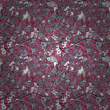 Seamless Abstract Retro Background Design. Tender fabric pattern. Pink, black and neutral on colors.