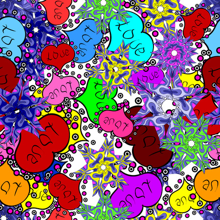 Heart pattern. Seamless vector love background. Valentine heart love seamless pattern with heart.